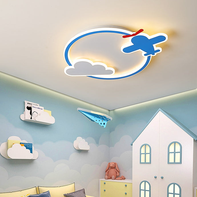 Airplane & Cloud Designed Wall Lamp