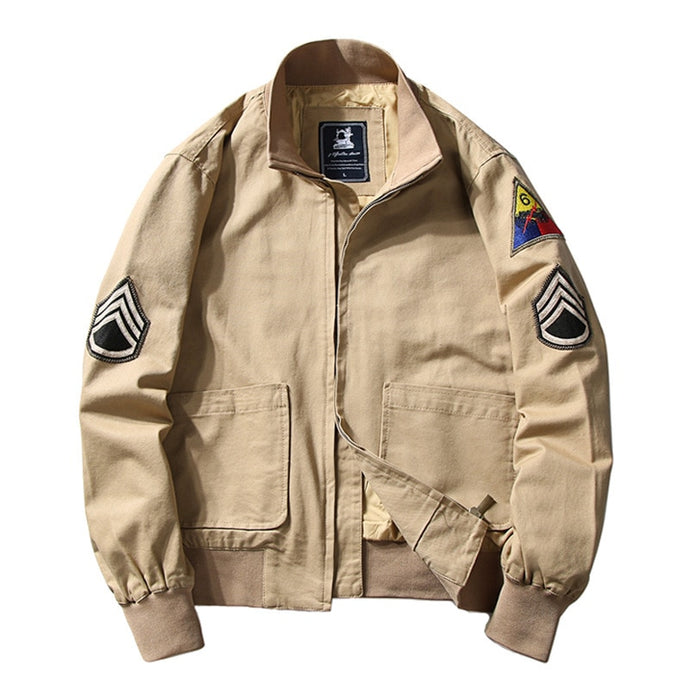Fury Movie Themed WW2 Style Cotton Bomber Jacket
