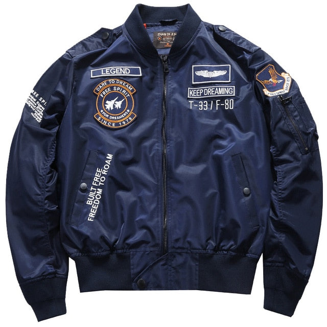 Dare to Dream & Free Spirit Themed Fighter Pilot Jackets