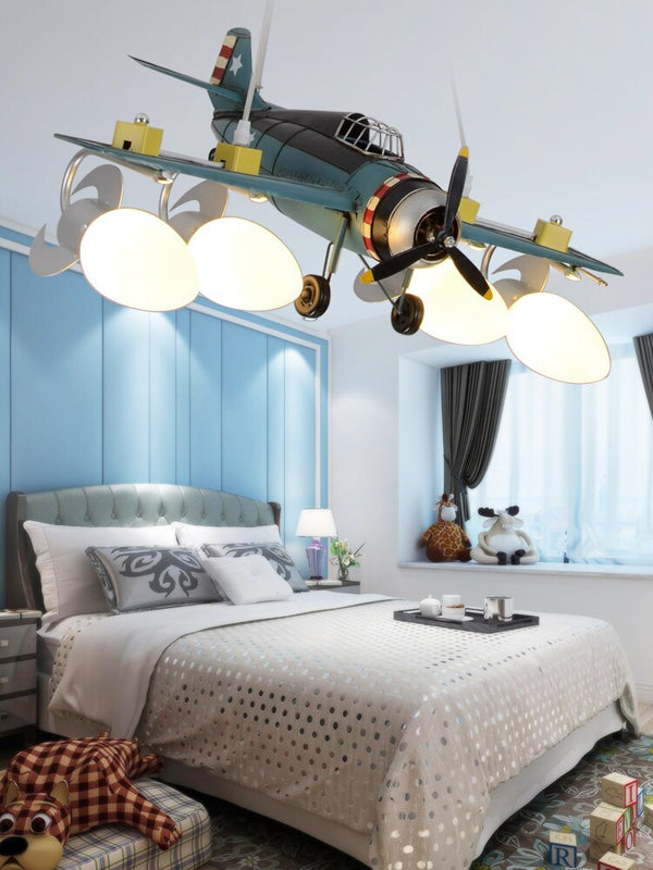 World War Themed Airplane Shape Wall Lamp