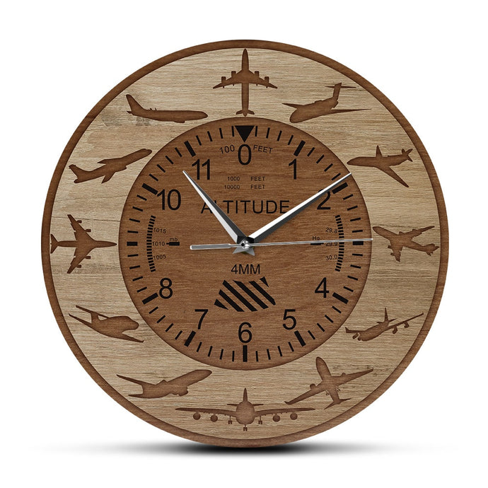 Amazing Altitude & Airplane Silhouettes Designed Wall Clocks