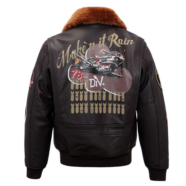 "World War II Military Style ""Make it Rain"" Pilot Bomber Jackets"
