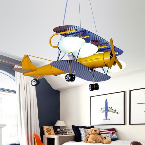 Double Decker Airplane Designed Wall Lamp