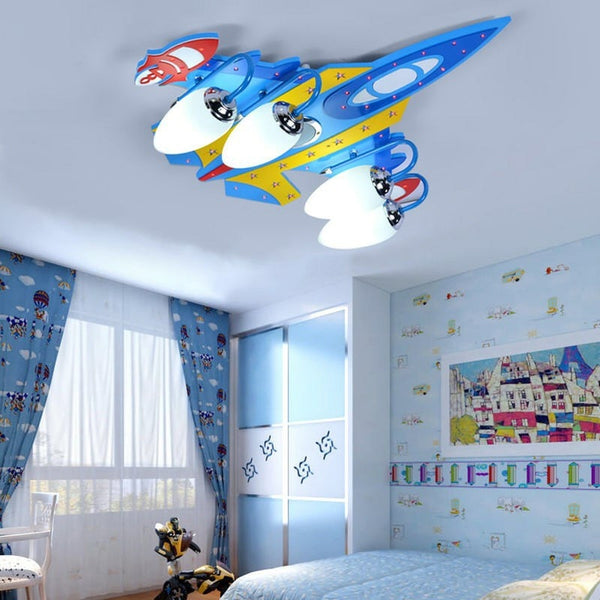 Fighter Jet Airplane Shape Wall Lamp with Bluetooth Speaker Feature