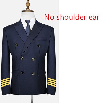High Quality Airline Pilot Suit Jackets & Coat (Black & Dark Blue)