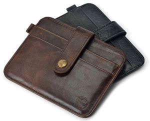 Slim Leather Men Cardholder & Wallet Pilot Eyes Store