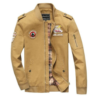 Fighting Falcon F16 Logo Pilot Bomber Jackets