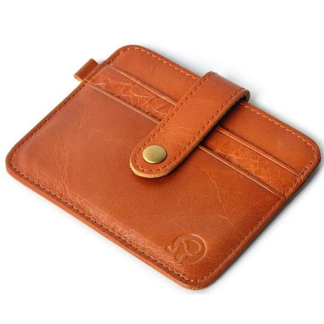Slim Leather Men Cardholder & Wallet Pilot Eyes Store Orange