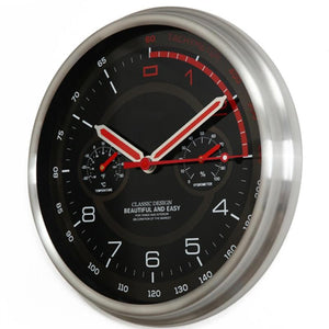Speed Lovers Designed Wall Clock with Thermometer & Hygrometer Aviation Shop