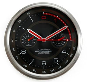 Speed Lovers Designed Wall Clock with Thermometer & Hygrometer Aviation Shop Default Title