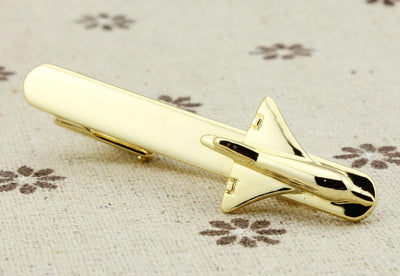 52mm Business Style Airplane Shape Tie Clips