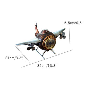 Retro Style Aircraft Designed Table Clocks Pilot Eyes Store Default Title