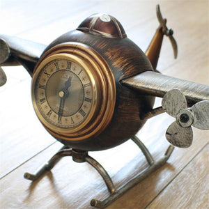 Retro Style Aircraft Designed Table Clocks Pilot Eyes Store