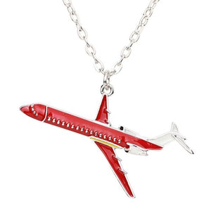 Colourful Airplane Shape Designed Necklaces