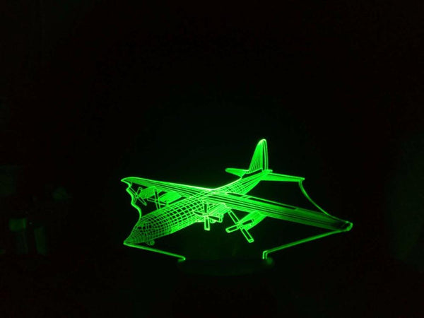 Lockheed Hercules C-130 Designed 3D Lamp