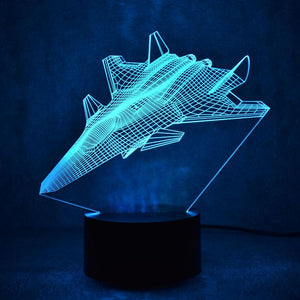 Amazing Fighter Jet Designed 3D Lamp Pilot Eyes Store