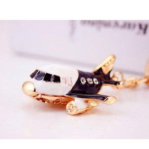 Cute Airplane Shaped Key Chains Aviation Shop Deep Red