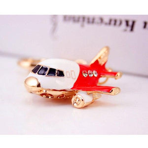 Cute Airplane Shaped Key Chains Aviation Shop Red