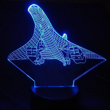 Departing Mighty Concorde Designed 3D Lamp Aviation Shop