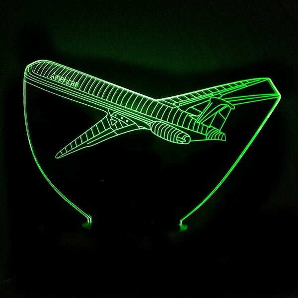 Departing American Jet Designed 3D Lamp