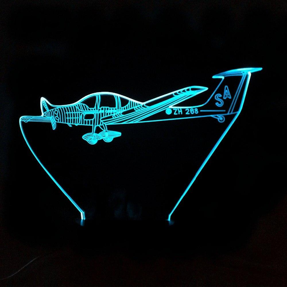 Cruising Single Engine Designed 3D Night Lamp