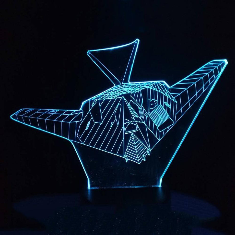 Ghost Airplane Designed 3D Lamp Aviation Shop