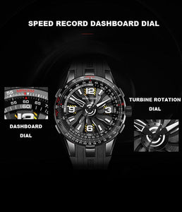 Jet Engine Blades Designed Pilot Watches Aviation Shop