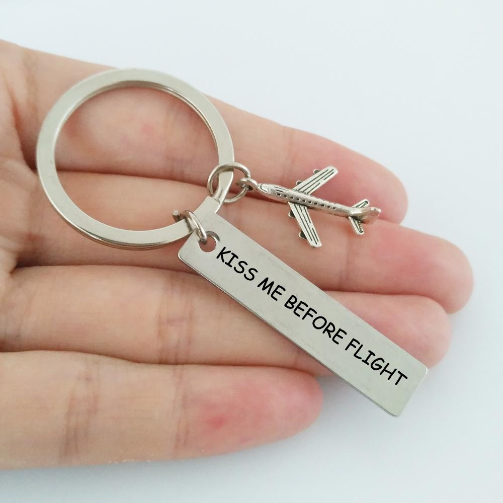 Kiss Me Before Flight 2 Tagged Airplane Key Chain Aviation Shop