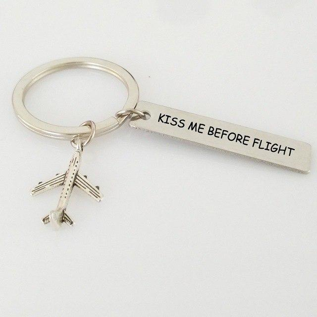 Kiss Me Before Flight 2 Tagged Airplane Key Chain Aviation Shop Default Title