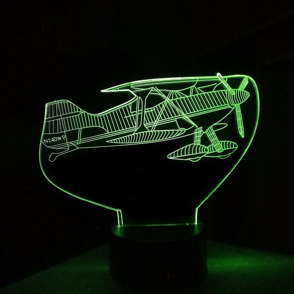 Amazing Show Aircraft Designed 3D Lamp