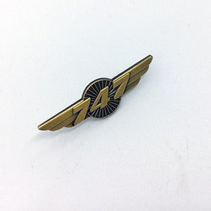 Boeing 747 Designed Vintage Badges