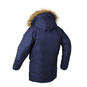 Super Thick Hooded Pilot Bomber Jackets Aviation Shop Blue L