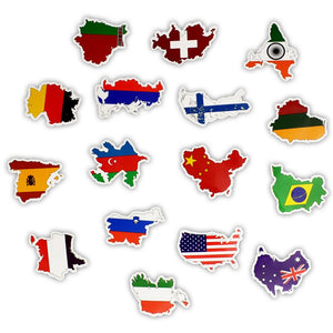 50 Pieces National Flags Stickers (Mixed)