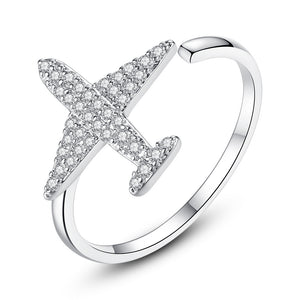 Super Quality Shinny Airplane Shape Ring (Adjustable)