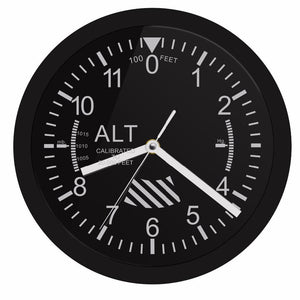 Super Altimeter Wall Clock with Led Feature Aviation Shop