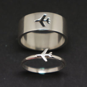 Amazing Couple Rings (Male & Female) Airplane Rings