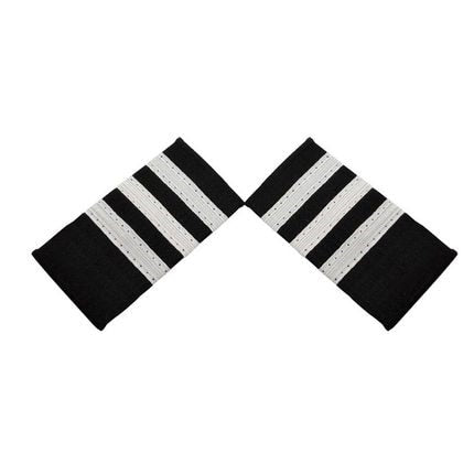 Super High Quality Pilot Epaulettes (1,2,3,4 Silver Stripes)