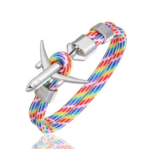 Super Quality Stylish Airplane Shape Bracelets (Mixed Colours)