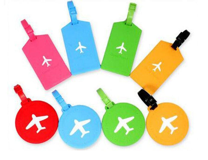 Rectangle & Round Airplane Designed Luggage Tags