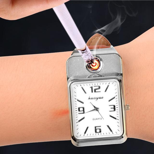 Rectangle Shaped Watches With Lighter Feature