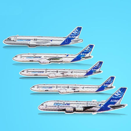 Reflective Airbus Model Stickers A320 & A330 & A340 & A350 & A380