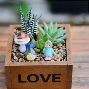 Rustic Natural Wooden Succulent Box