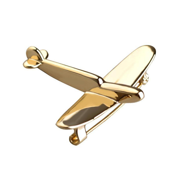 Simple Designed Airplane Shape Brooches