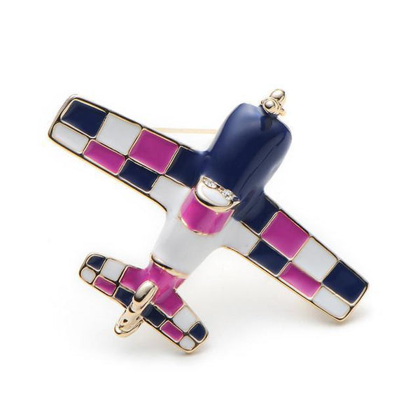 Single Engine Airplane Shaped Brooches