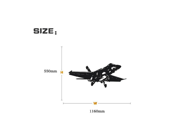 Amazing Military Aircraft on Departure Designed Wall Sticker