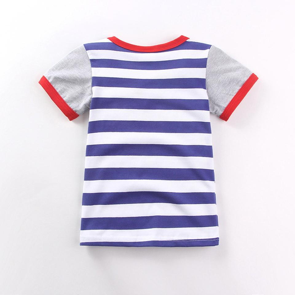 Striped & Cool Style Airplane Printed Babies And Kids T-Shirts