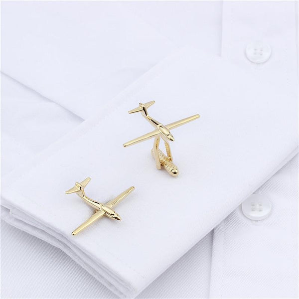 Stylish Airplane Shaped Cuff Links