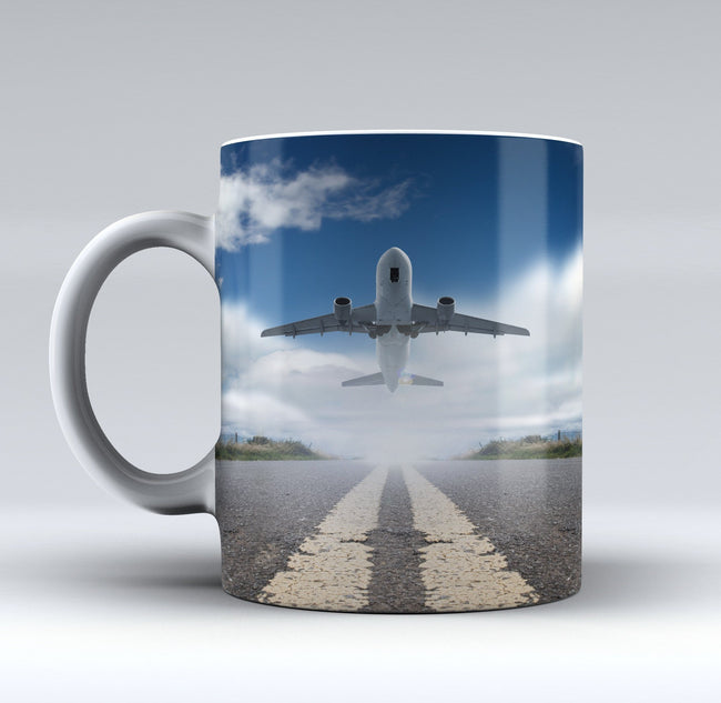 Taking Off Aircraft Printed Mugs
