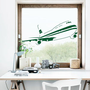 Vintage Style Boeing 747-400 Designed Wall Stickers