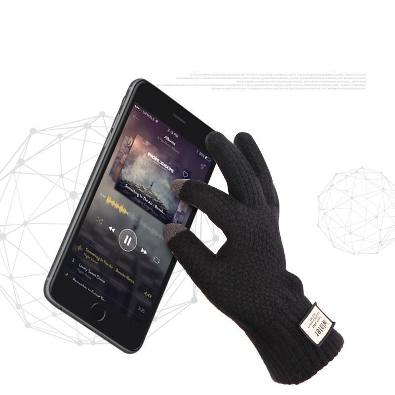 Wool Touch-Screen Friendly Gloves
